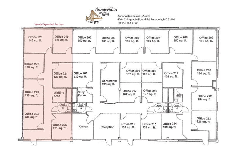 Stunning Executive Office Suite Floor Plan Contemporary